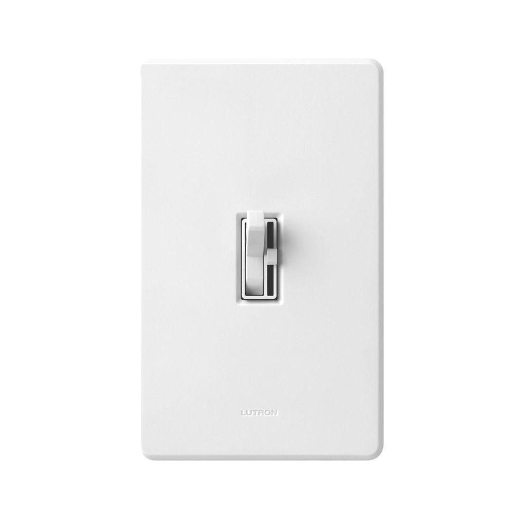 Lutron Toggler 600Watt SinglePole3Way EcoDimmer White MM