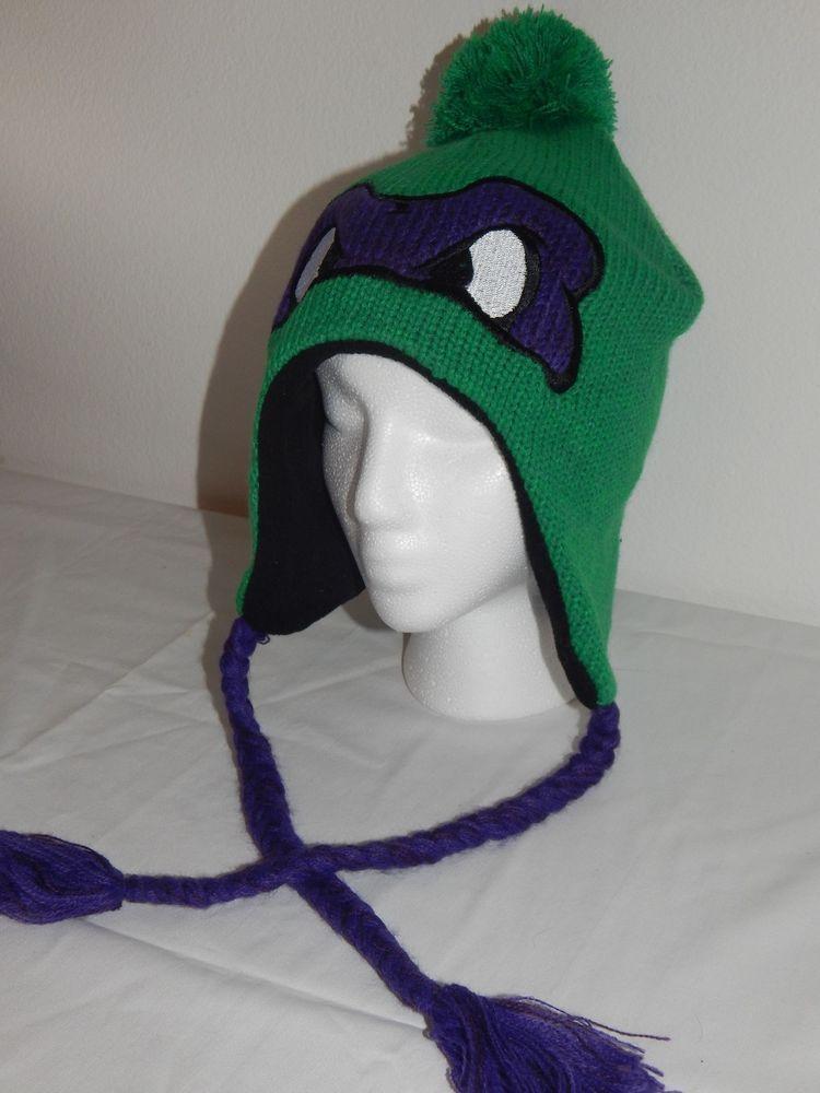 c1891f3c3 Teenage Mutant Ninja Turtles TMNT Donatello Laplander Winter Hat ...