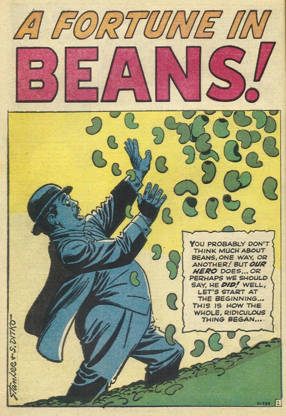 Image result for ditko beans strange tales