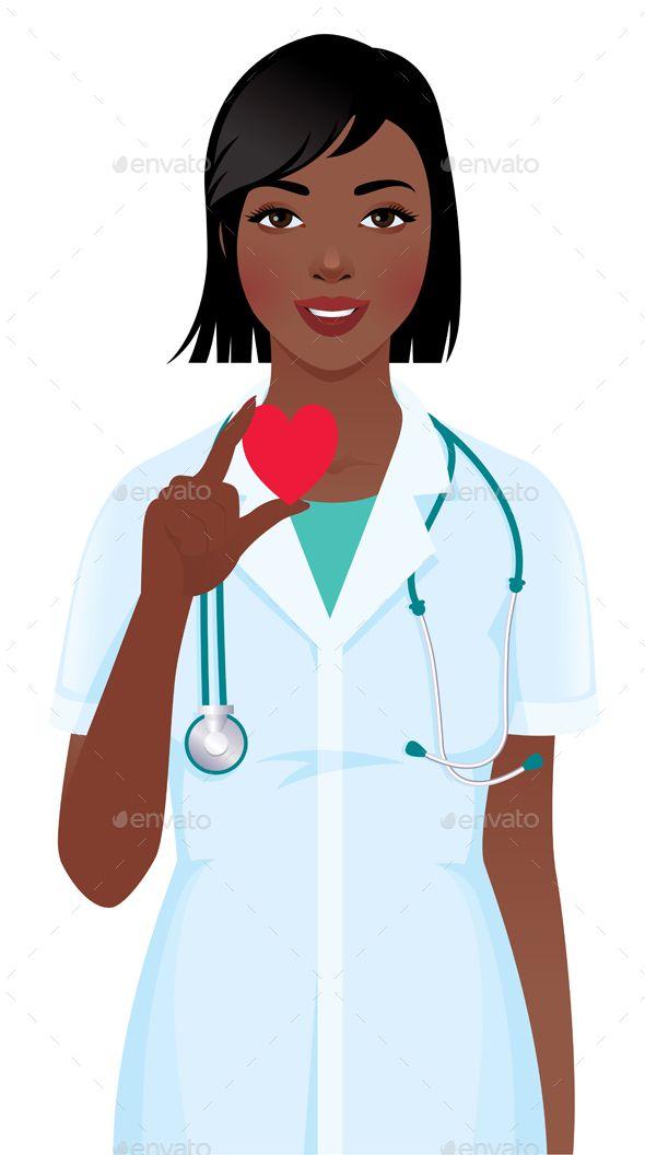 Female Doctor Or Nurse With Stethoscope Holding Heart Symbol Fotos De Enfermagem Enfermeira Desenho Enfermagem