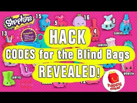 Shopkins Happy Meal Mcdonald S Hack Codes For The Blind
