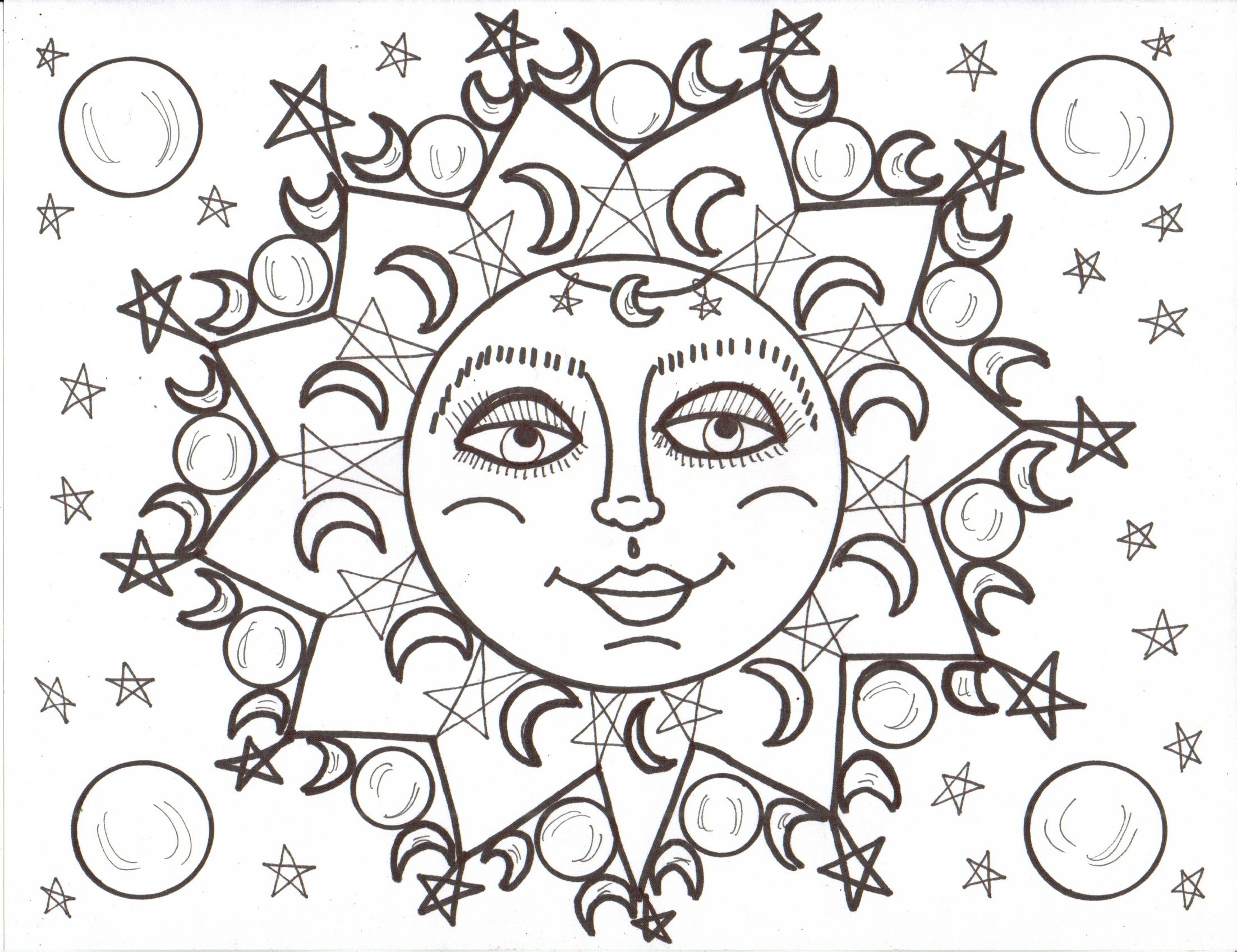 "iColor ""The Moon & Stars"" Luna & Soleil (2205×1699) | Moon ..."