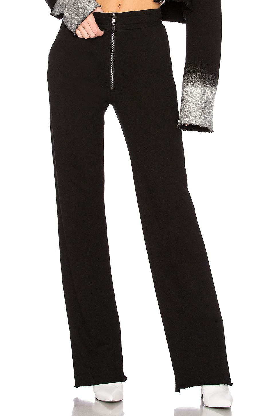 f03687cc8f9dcd COTTON CITIZEN The Manhattan High Waisted Trouser in Jet Black ...