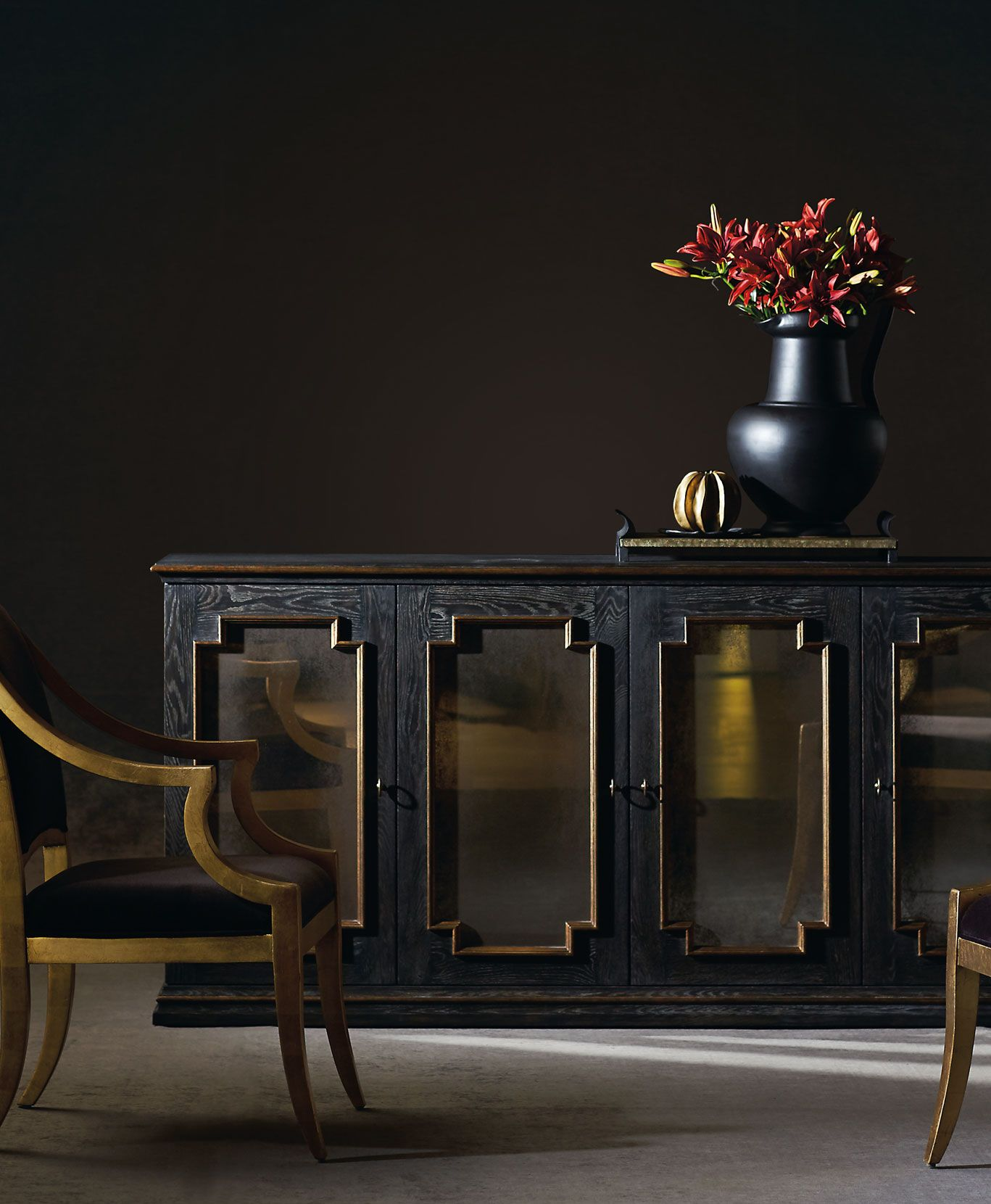 Bernhardt Interiors Quinn Buffet Lisette Chair