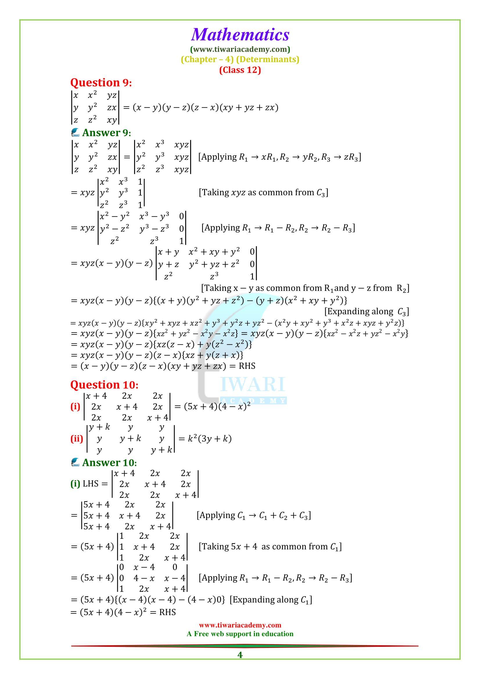12 Maths Properties Of Determinants 12th Maths Maths Solutions Math Properties [ 2339 x 1653 Pixel ]
