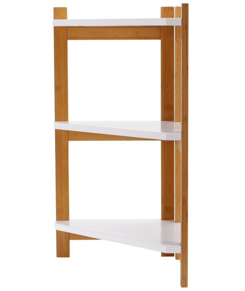 Buy Argos Home 3 Tier Bamboo Corner Shelf Unit Two Tone Bathroom Shelves And Storage Units Shelves Corner Shelf Unit Corner Shelves