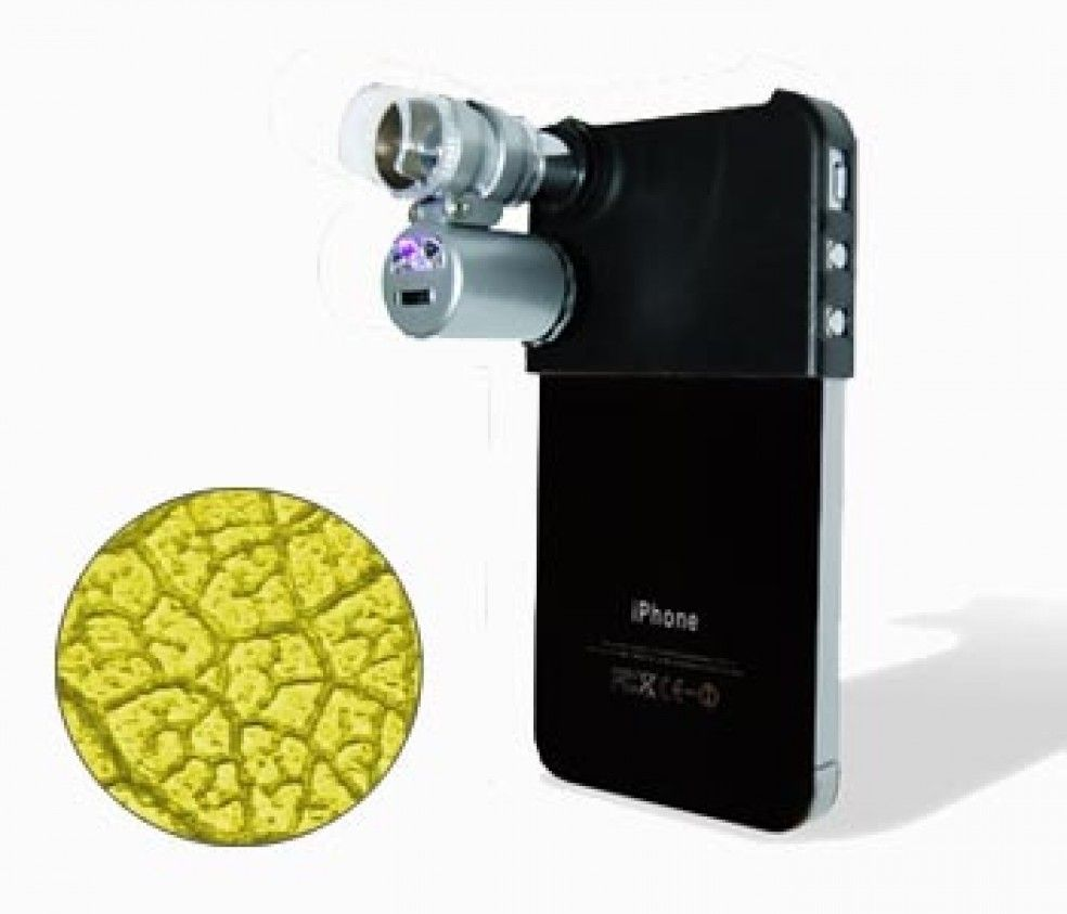 Mini Microscope for the I-Phone 4 A new Gadget for Geeks and Hobby ...