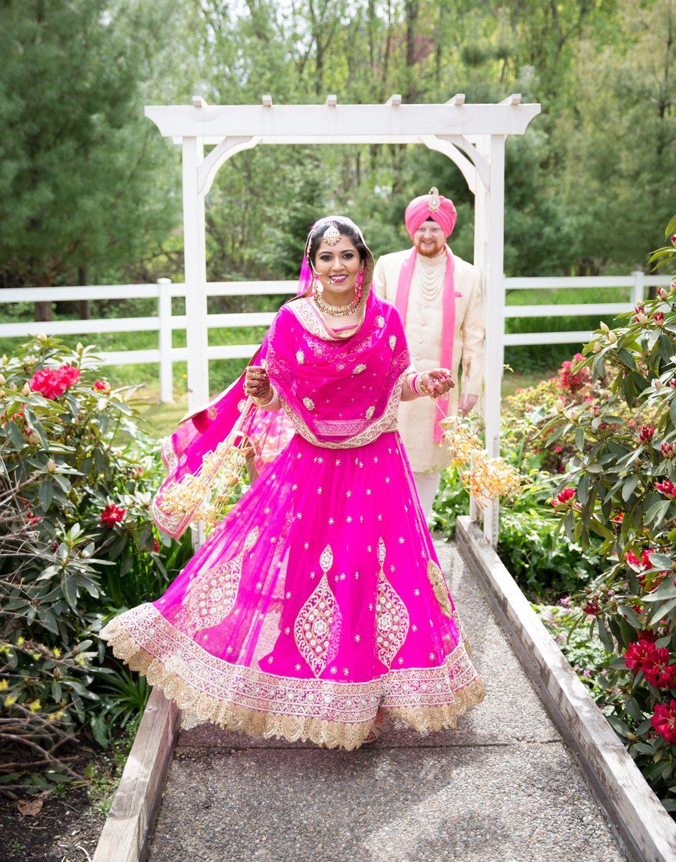 Pink Silk Embroidered Wedding Lehenga by Varuna Jithesh | Lehenga ...