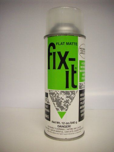 fix it flat matte fixative for ceramic by plaid 12oz workable spray