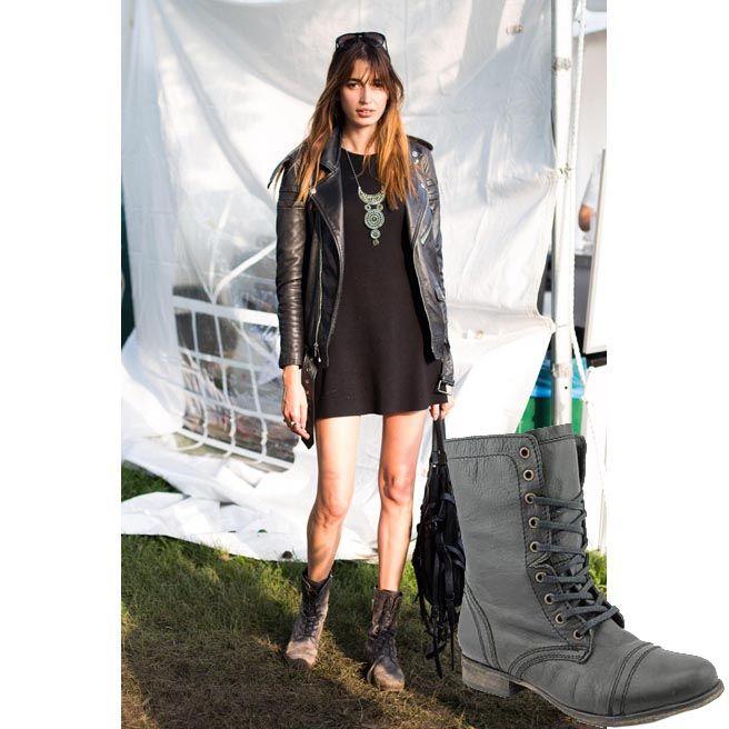 ebc81438b522 Troopa boots with black shift dress