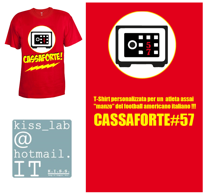 T-shirt personalizzata con soprannome e numero maglia di un giocatore di football americano!
