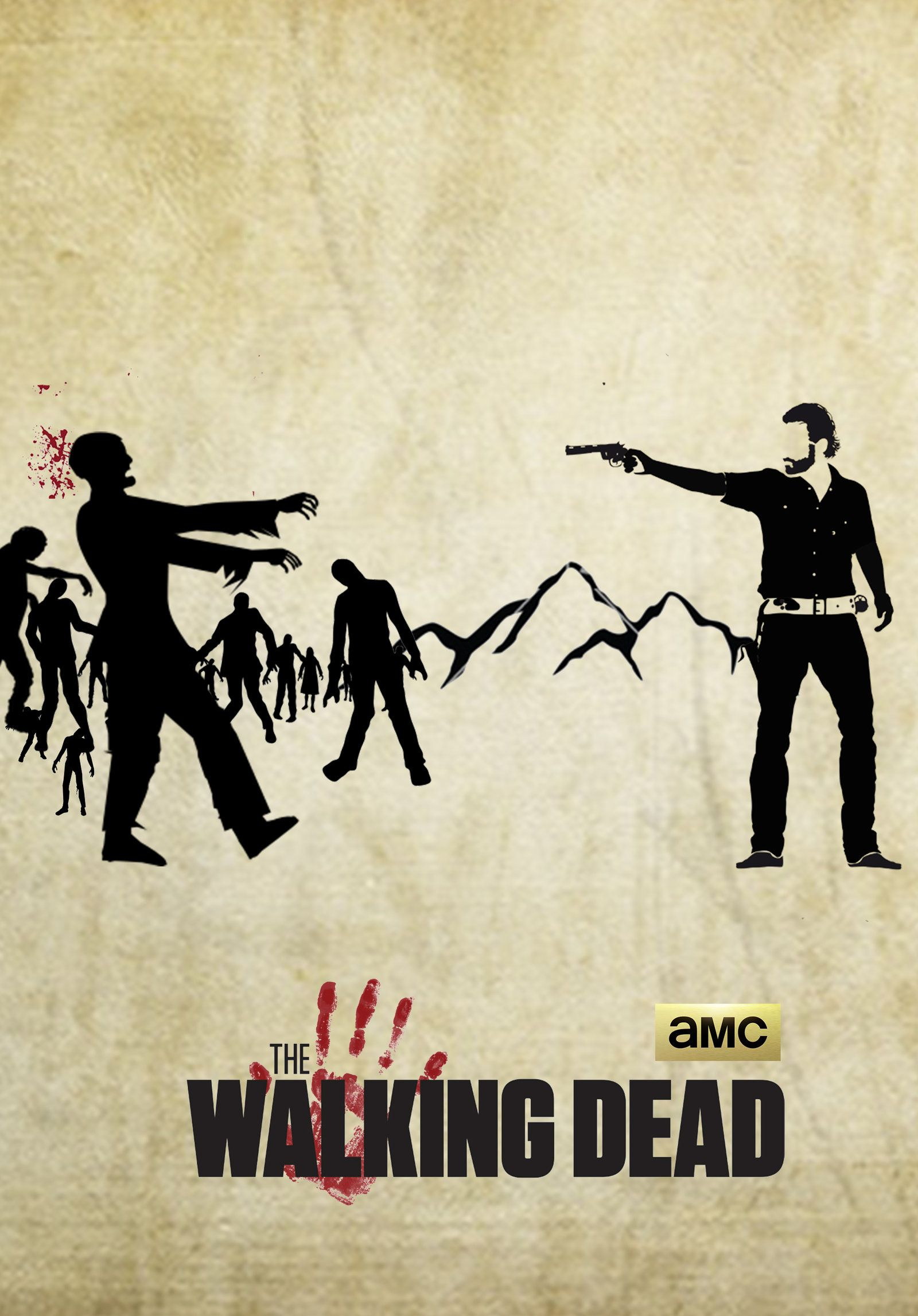 Amc S The Walking Dead Minimal Poster By Kartheekmummaneni The Walking Dead Poster The Walking Dead Poster Prints