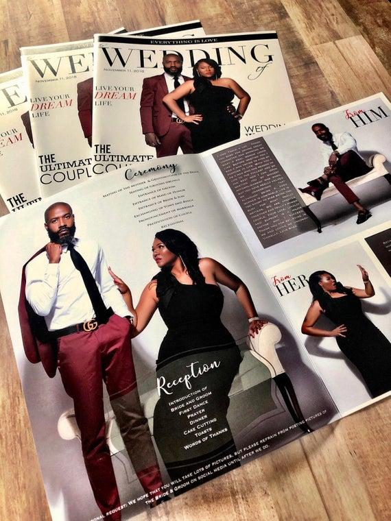 Wedding Magazine Programs Designed And Printed Black And White Program Ceremony Program Photo Program Wedding Magazine Jamaica In 2020 Magazine Wedding Program Wedding Magazine Photo Programs