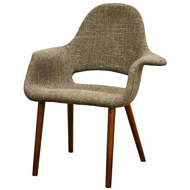 Forza Taupe Twill Mid Century Style Accent Chairs (Set Of 2) By Baxton  Studio
