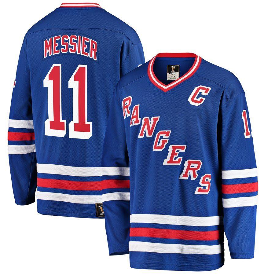 Men s New York Rangers Mark Messier Fanatics Branded Blue Premier Breakaway  Heritage Player Jersey fb98ab7ce