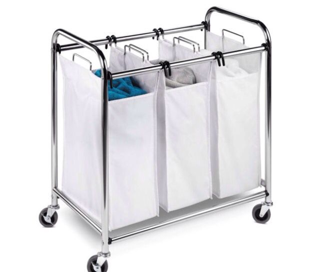 Songmics Heavy Duty 4 Bag Rolling Laundry Sorter Storage Cart With
