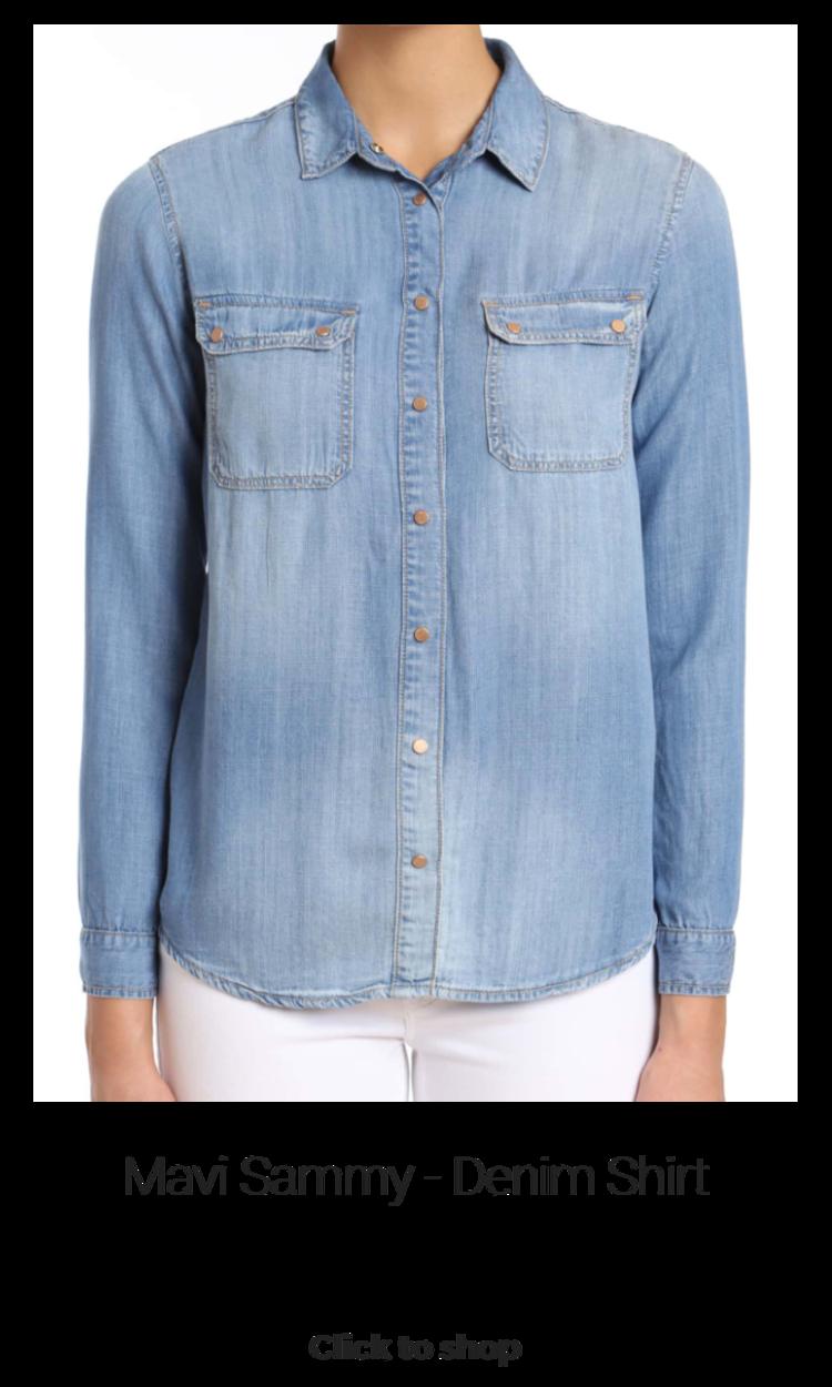 Mavi Sammy - Denim Shirt (Sizes XS - L) - $98.00  #denimshirt #chambray #chambrayshirt #buttondownshirt #longsleeve #capsulewardrobe #capsulewardrobetops #tops #denimtop #denim #mavisammy