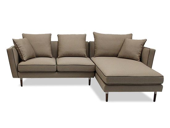 Dania - Sectionals - Taya Chaise Sectional - Taupe  sc 1 st  Pinterest : dania sectional - Sectionals, Sofas & Couches