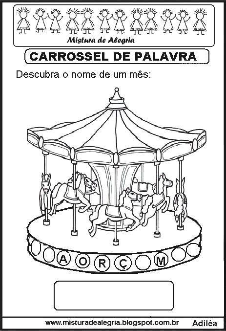 Carrossel De Palavras Alfabetiza C3 A7 C3 A3o Imprimir Colorir 8