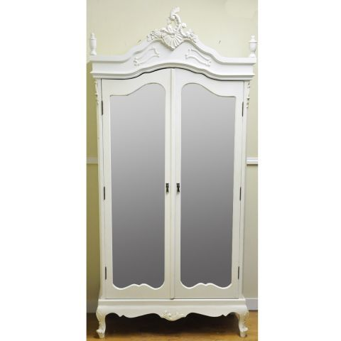 French Style Armoire Wardrobe In Antique White   One Of My Top Favourite  Cupboards