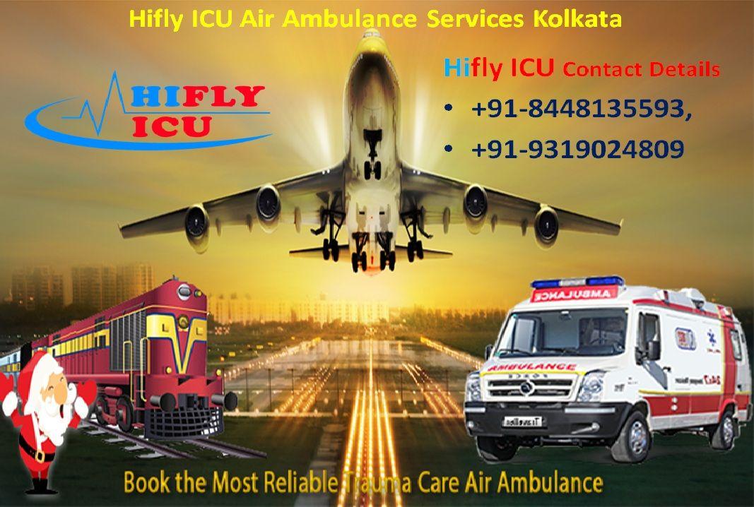Pick the BestPrice Air Ambulance in Kolkata by Hifly ICU