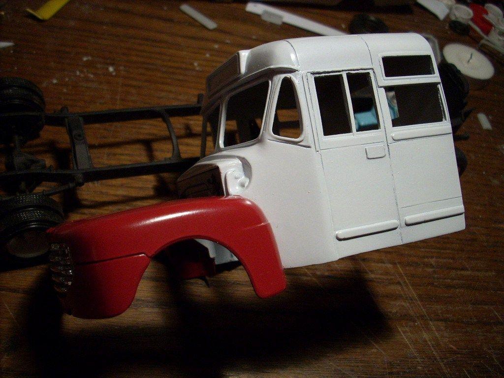 Junkyard Models 1950 Ford Bus/Stock Car Hauler Car