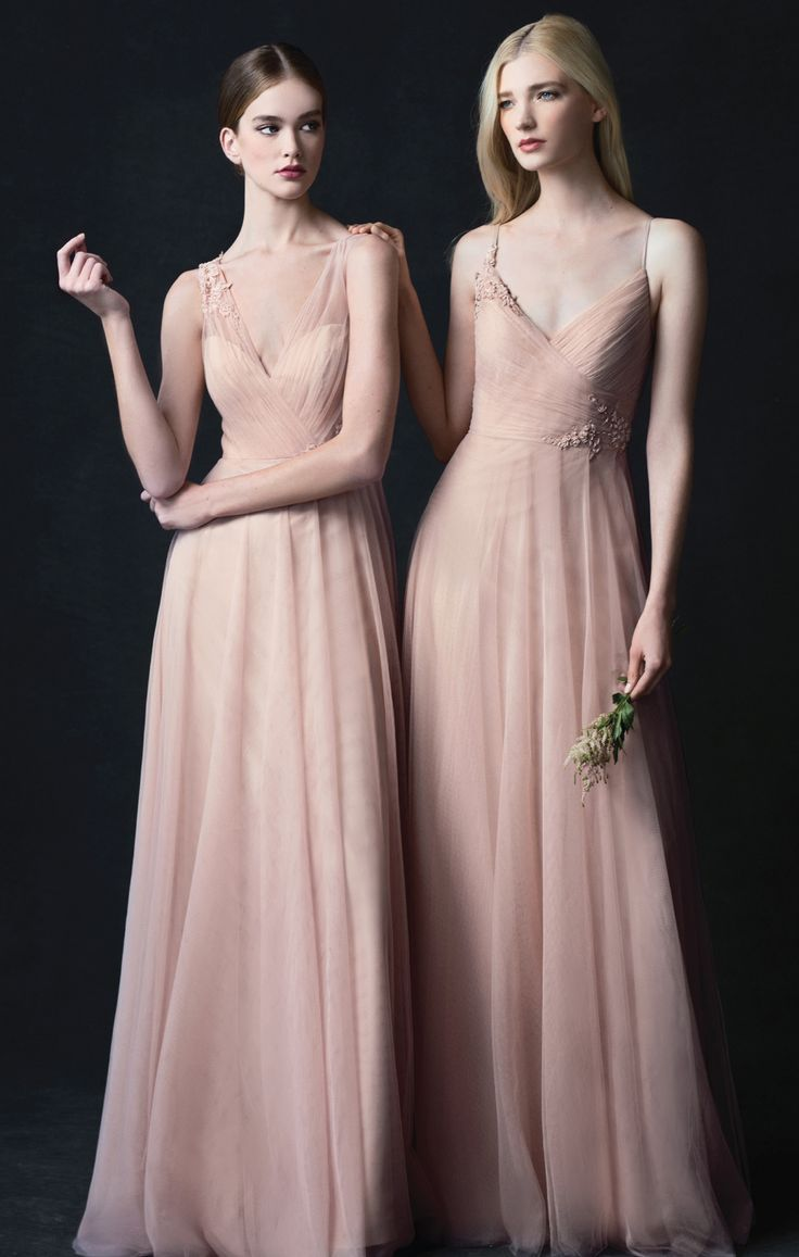58e5abf8b94 Brielle + Emelie Dress in Cameo Pink Soft Tulle by Jenny Yoo new for 2017.  Blush