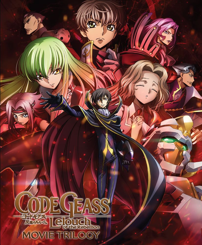 Code Geass Lelouch Of The Rebellion Movie Trilogy Blu Ray