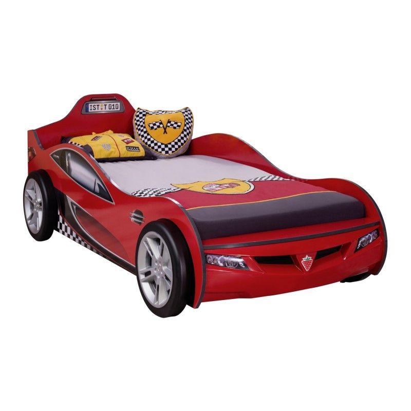 lit voiture 90 x 190 cm pour enfant coloris rouge lit enfant pinterest lit voiture pour. Black Bedroom Furniture Sets. Home Design Ideas