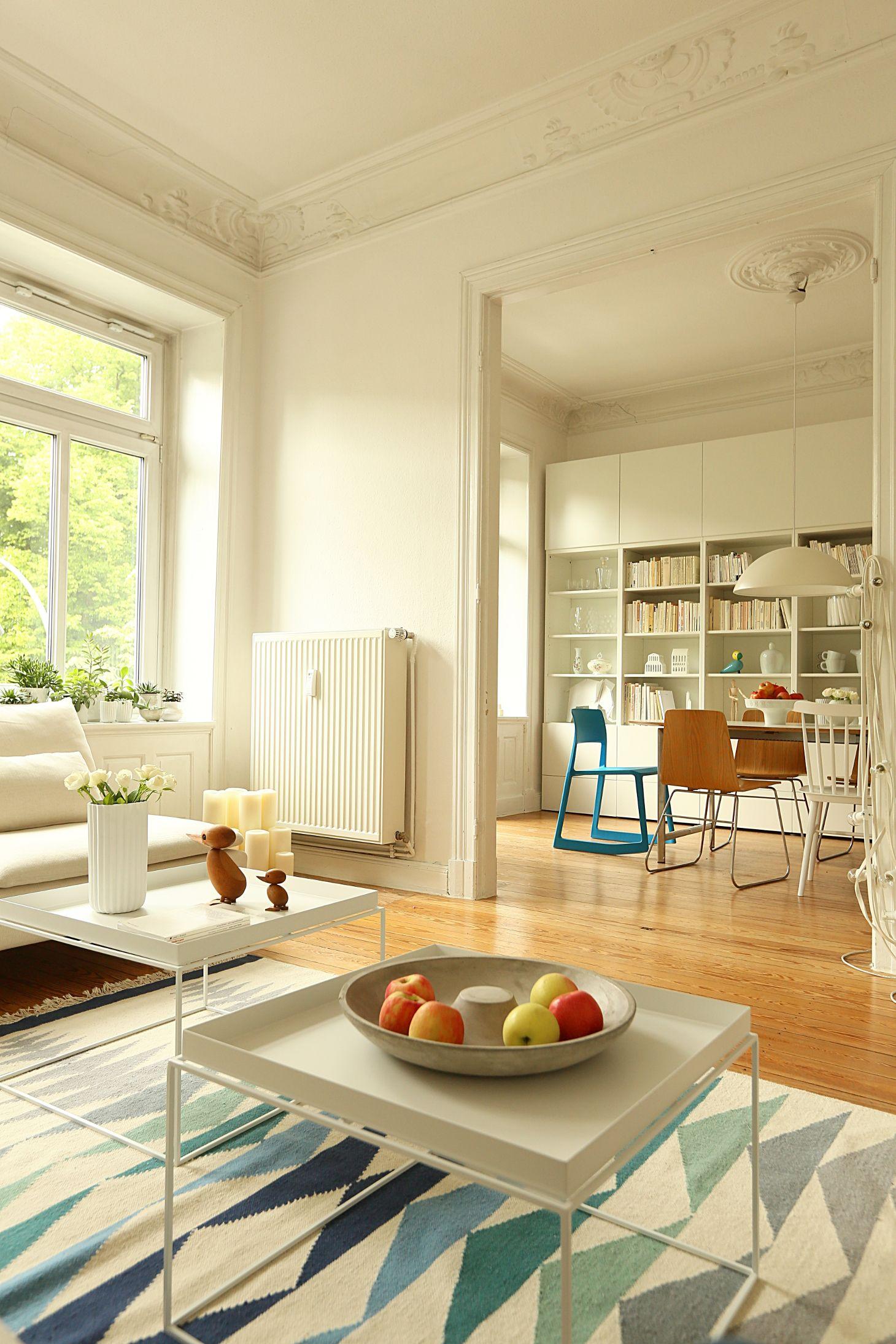 Wohnzimmer, Altbau, Bolia, Hay Tray, Ikea, Besta, Livingroom, Interior,  Wohnen, Einrichtung, Skandinavisch, Scandic, Tip Ton Vitra