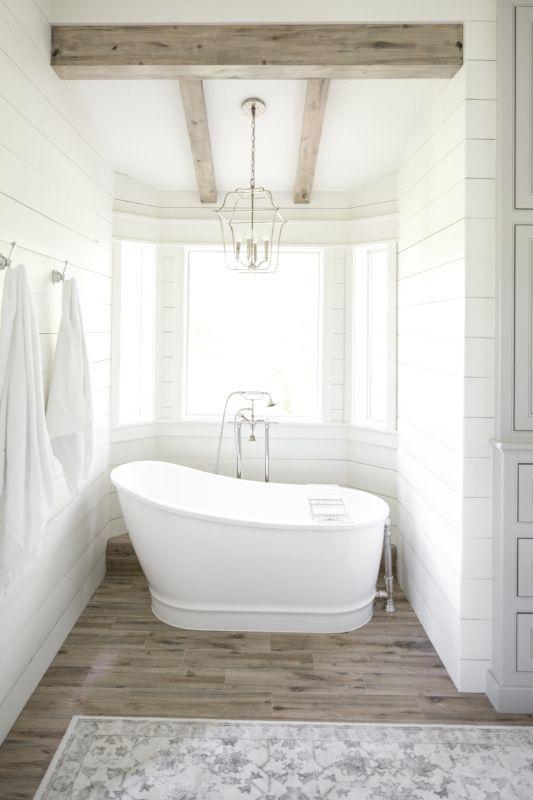 Farmhouse Bathroom Shiplap Bathroom White Gray Bathroom Stunning Bath Remodeling Contractors Decoration