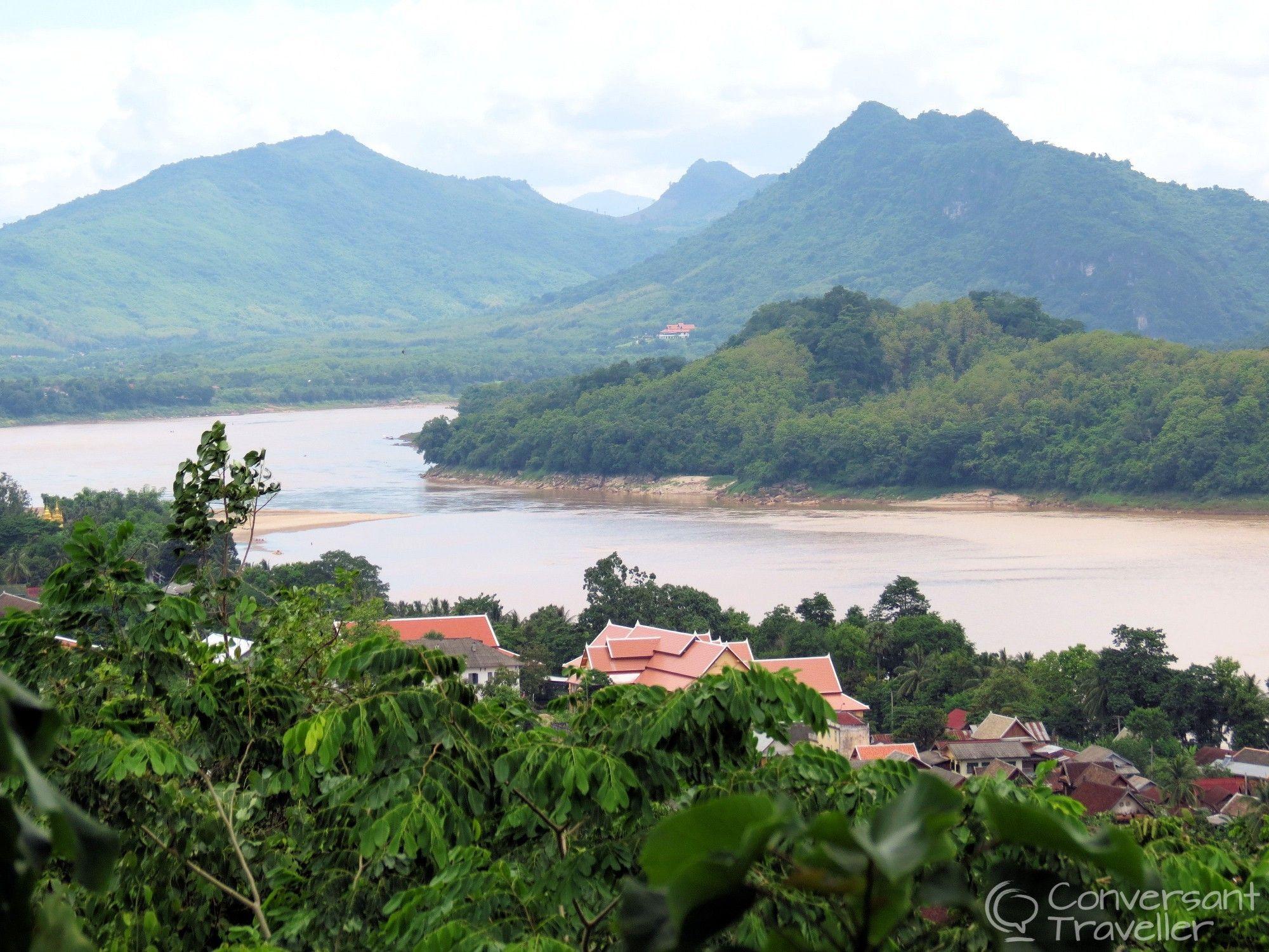 Luang Prabang and the Mekong from Mount Phousi