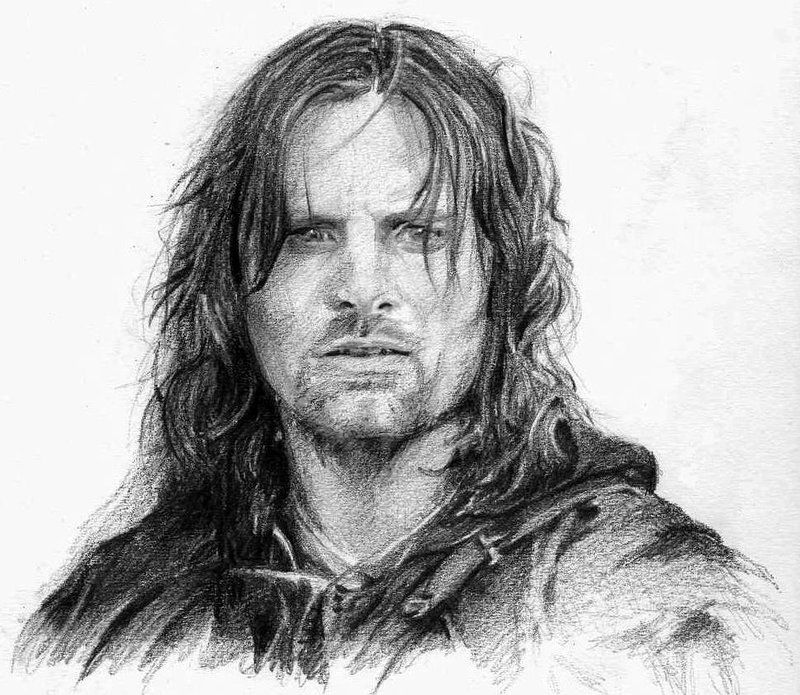 Amazing drawing of Aragorn | pencil sketches | Pinterest | El señor ...
