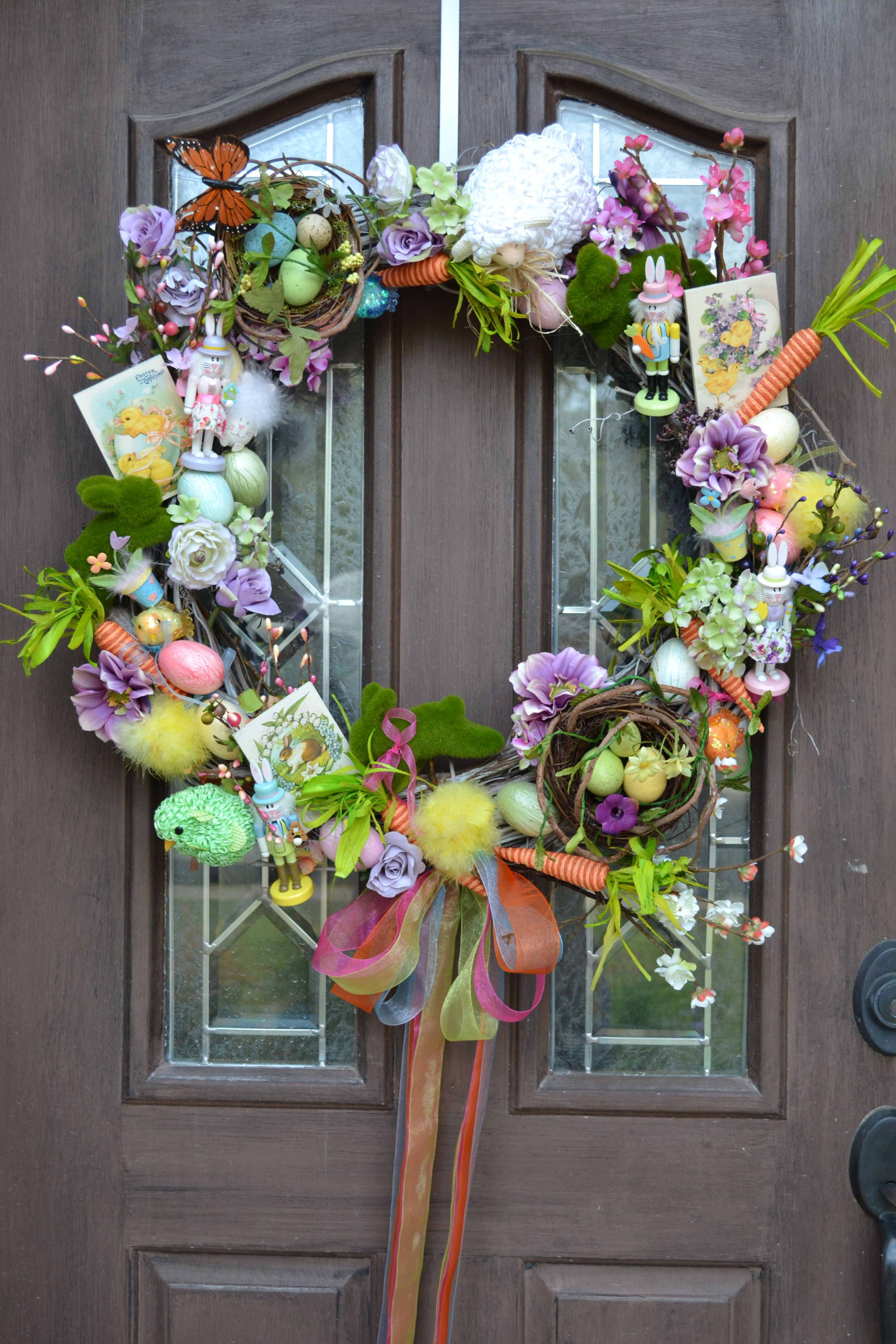 I Bought Easter Spring Decorations On Sale From Pier 1 Michaels Tuesday Morning Hobby Lobby To Mak Easter Diy Spring Door Decoration Easter Spring Wreath