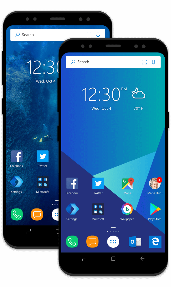 Microsoft launcher now lets you create folders in app