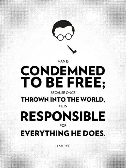 Jean Paul Sartre Frases Existencialistas Citas