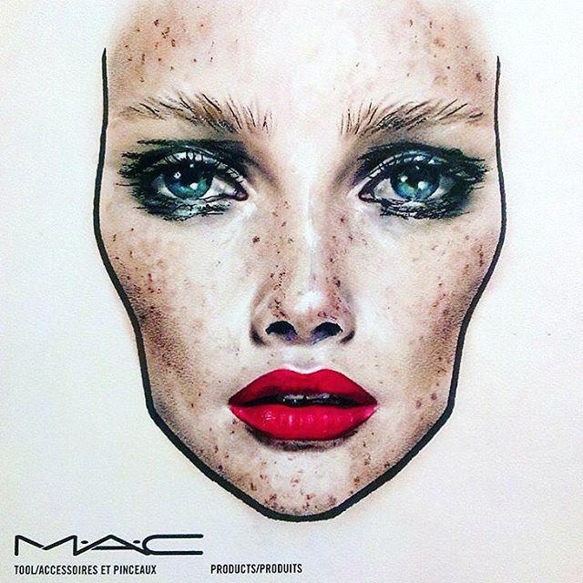 Romanian #facechart  by @amaliabot for @maccosmetics