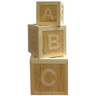 These Beautiful Unfinished Wooden Abc Block Boxes Are The Perfect