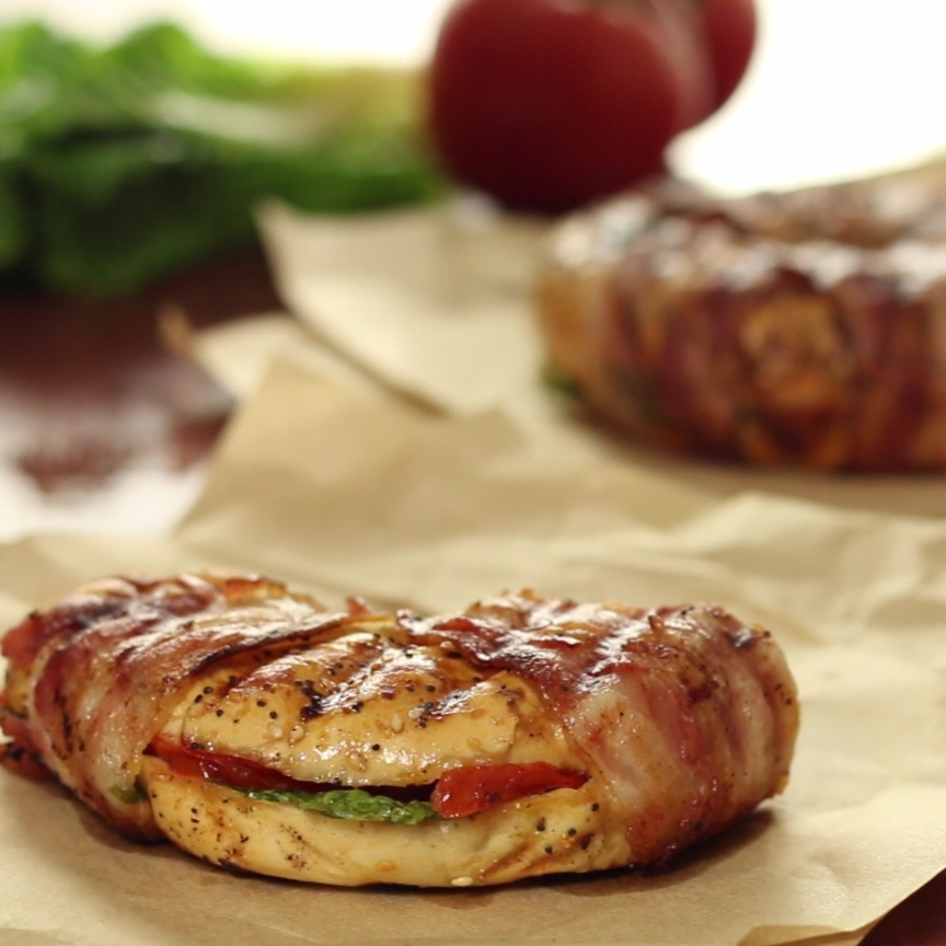 Grilled BLT Bagel   Recipe   Bacon, Sandwiches and Love