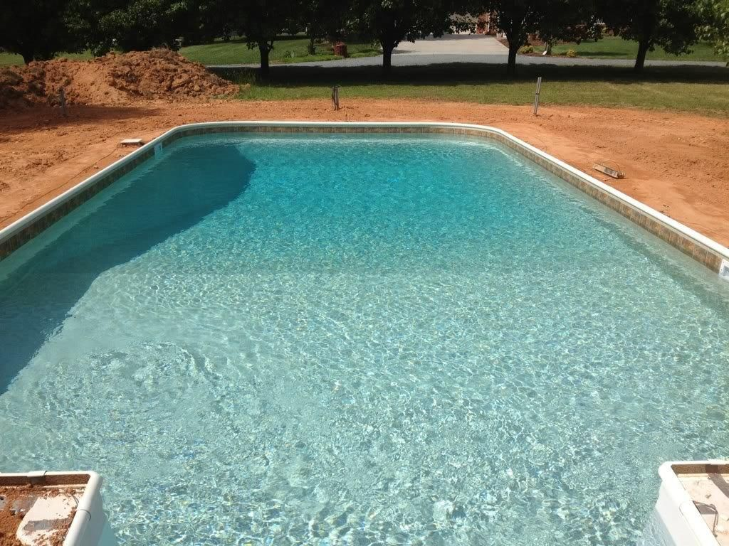 Gold Pebble Liner Pool Liners Pool Landscaping Swimming Pool Designs
