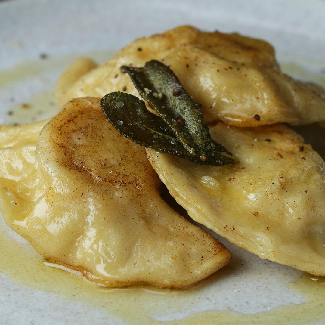 Brown Butter Sage Pierogi Recipe By Tasty Recipe Pierogi Recipe Recipes Food