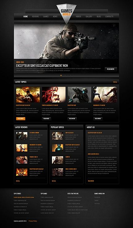 100+ Gaming Website Templates | Template and Website