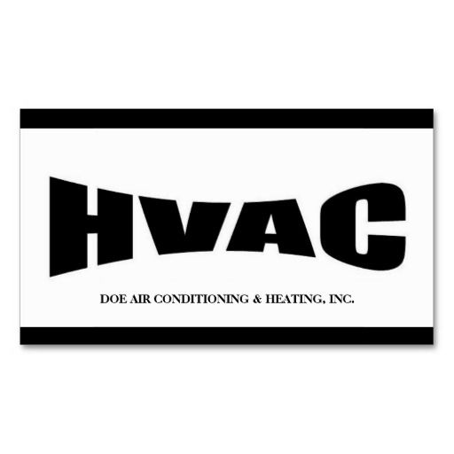 Heating and air conditioning business card business cards hvac technician bw business card cheaphphosting Choice Image