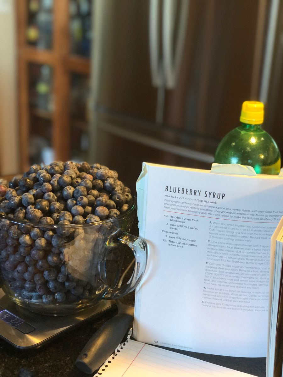 Blueberry syrup blueberry syrup blueberry water bath