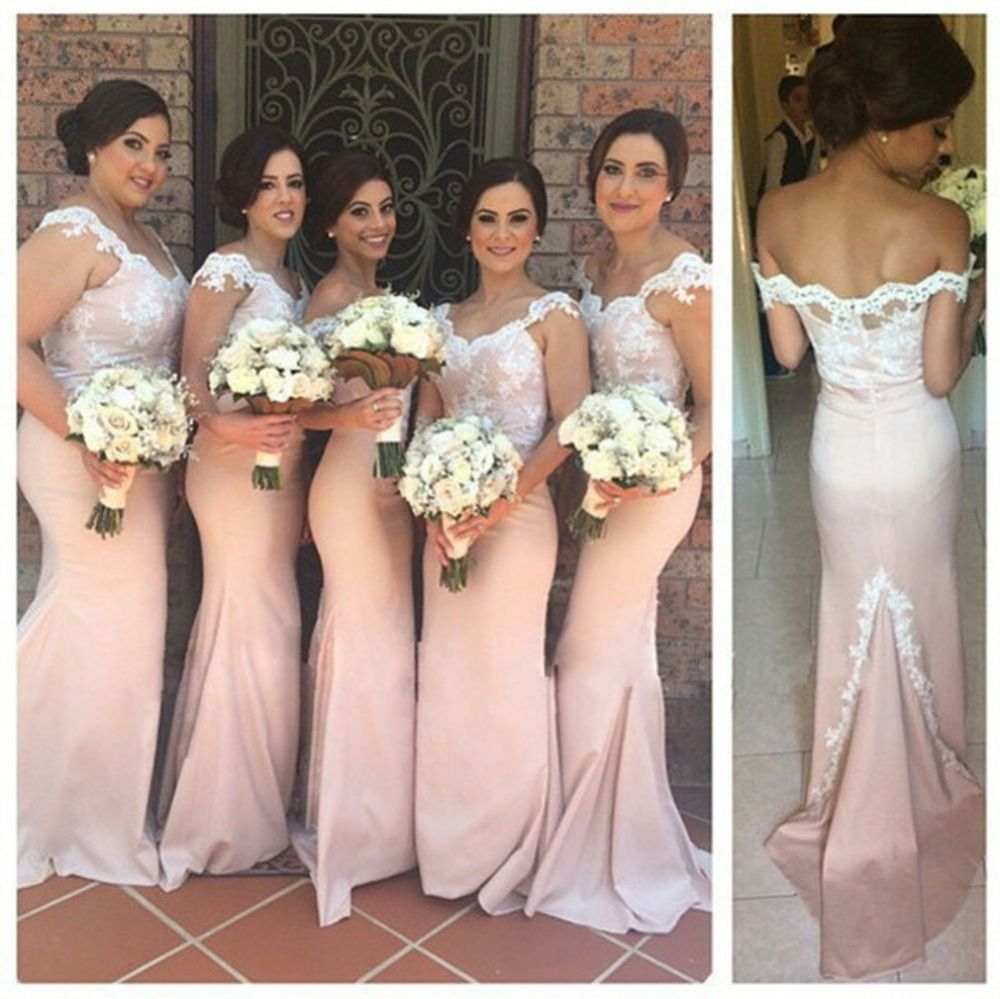 Blush long mermaid font b bridesmaid b font font b dresses b font long bridesmaid dress lace bridesmaid dress blush pink bridesmaid dress mermaid bridesmaid dress cap sleeve bridesmaid from makerdress ombrellifo Images