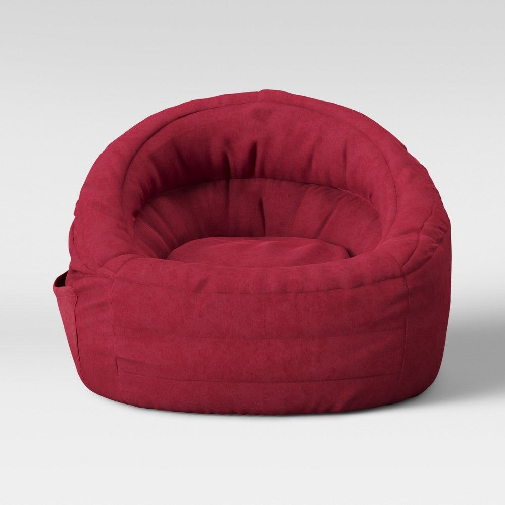 Cocoon Bean Bag Chair With Pocket Red Pillowfort Bean Bag Chair Bean Bag Pillow Fort