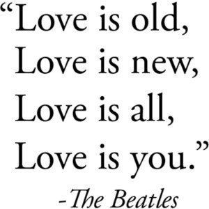 The Beatles: great lyrics to use from one of my favorite songs.