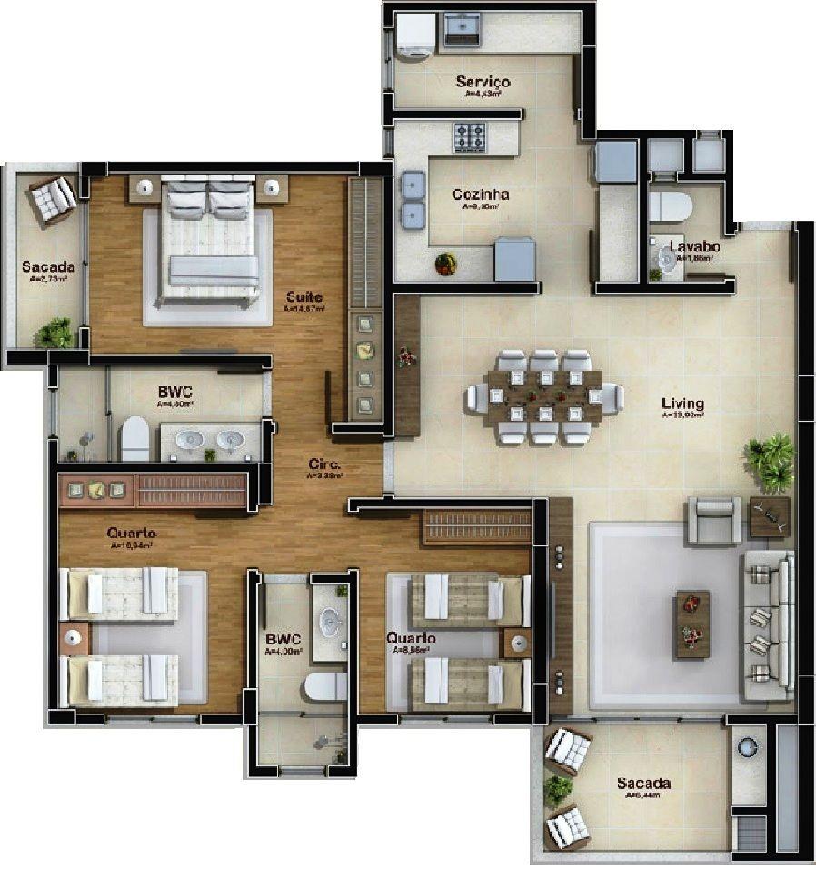 Pinterest claudiagabg apartamento 3 cuartos plans for Planos de casas sims