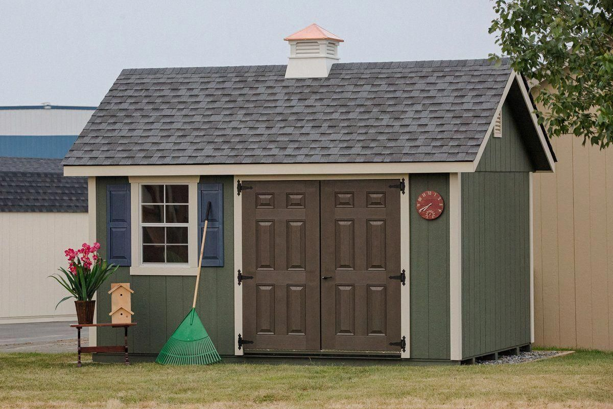 Fairmont 14 Ft W X 10 Ft D Wooden Storage Shed Wooden Storage Sheds Shed Plans Backyard Shed