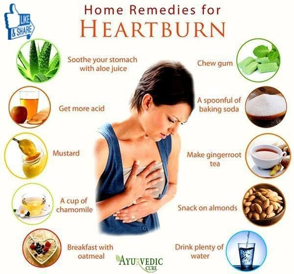 home remedies for heartburn relief at night
